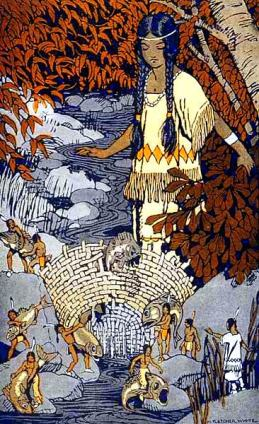 How_Morning_Star_Lost_her_Fish_-_from_Stories_the_Iroquois_Tell_Their_Children_by_Mabel_Powers_1917