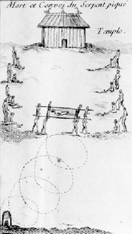 Mort et convoi du Serpent Pique, 1758