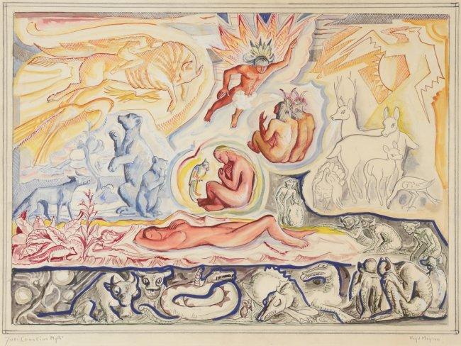 Lloyd R. Moylan (1893-1963), Zuni Creation Myth,