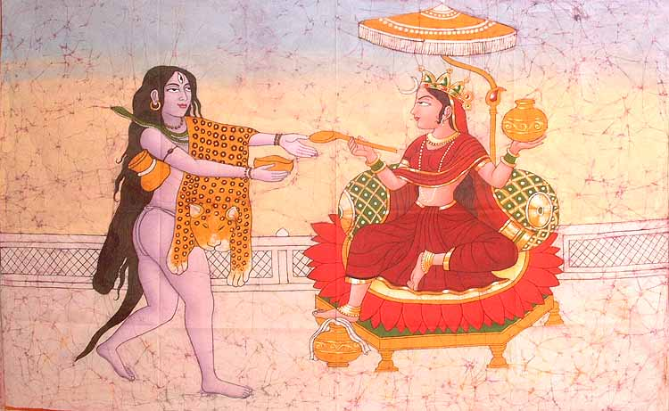 Annapoorṇā-dispensa-riso-a-Shiva