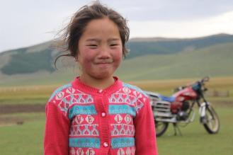 Bambina mongola.