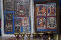 Altare buddhista in una gher.