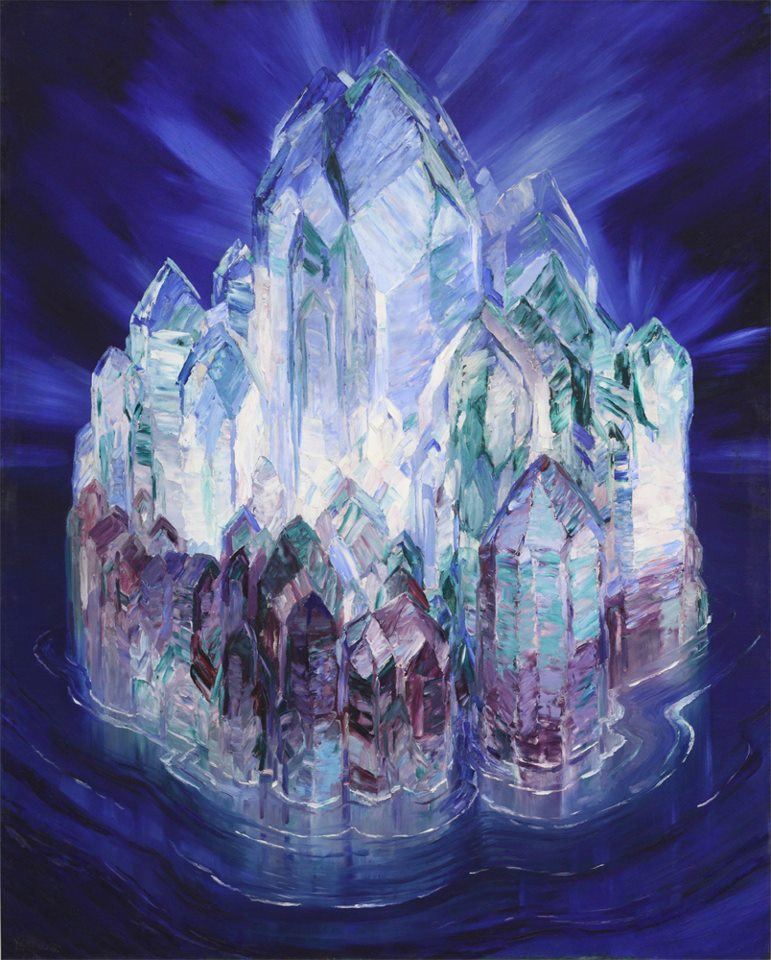 Wenzel Hablik, Crystal Castle in the Sea (1914)