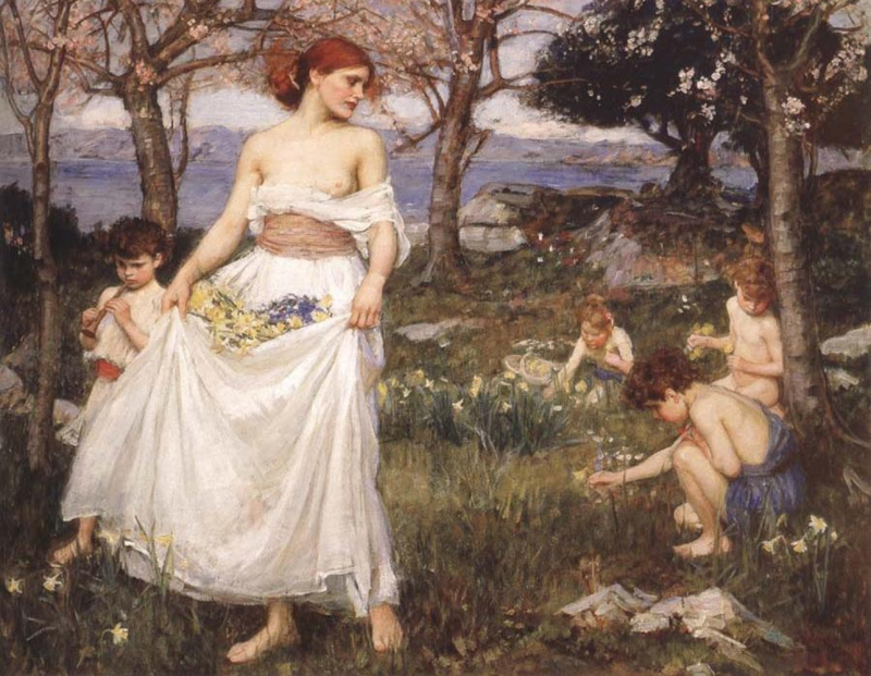 john_william_waterhouse_10_a_song_of_springtime