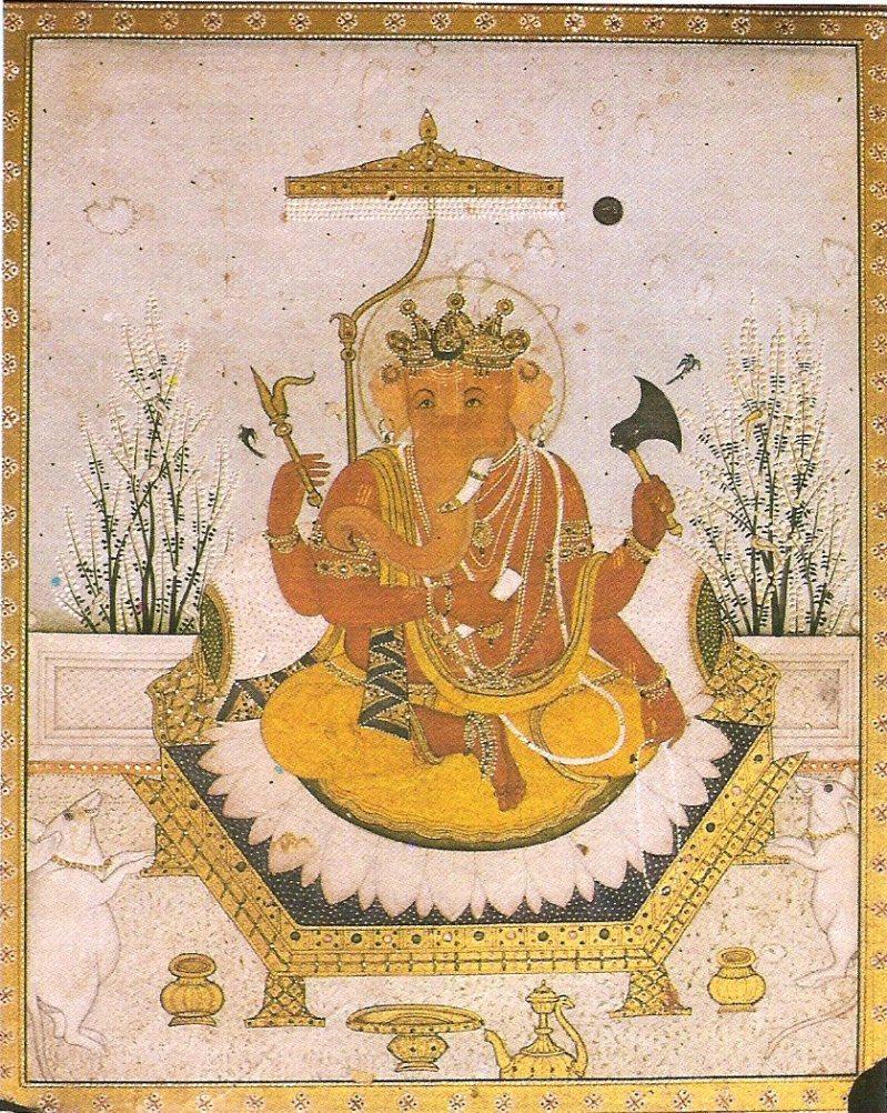 Ganesha_Nurpur_miniature_circa_1810_Dubost_p64