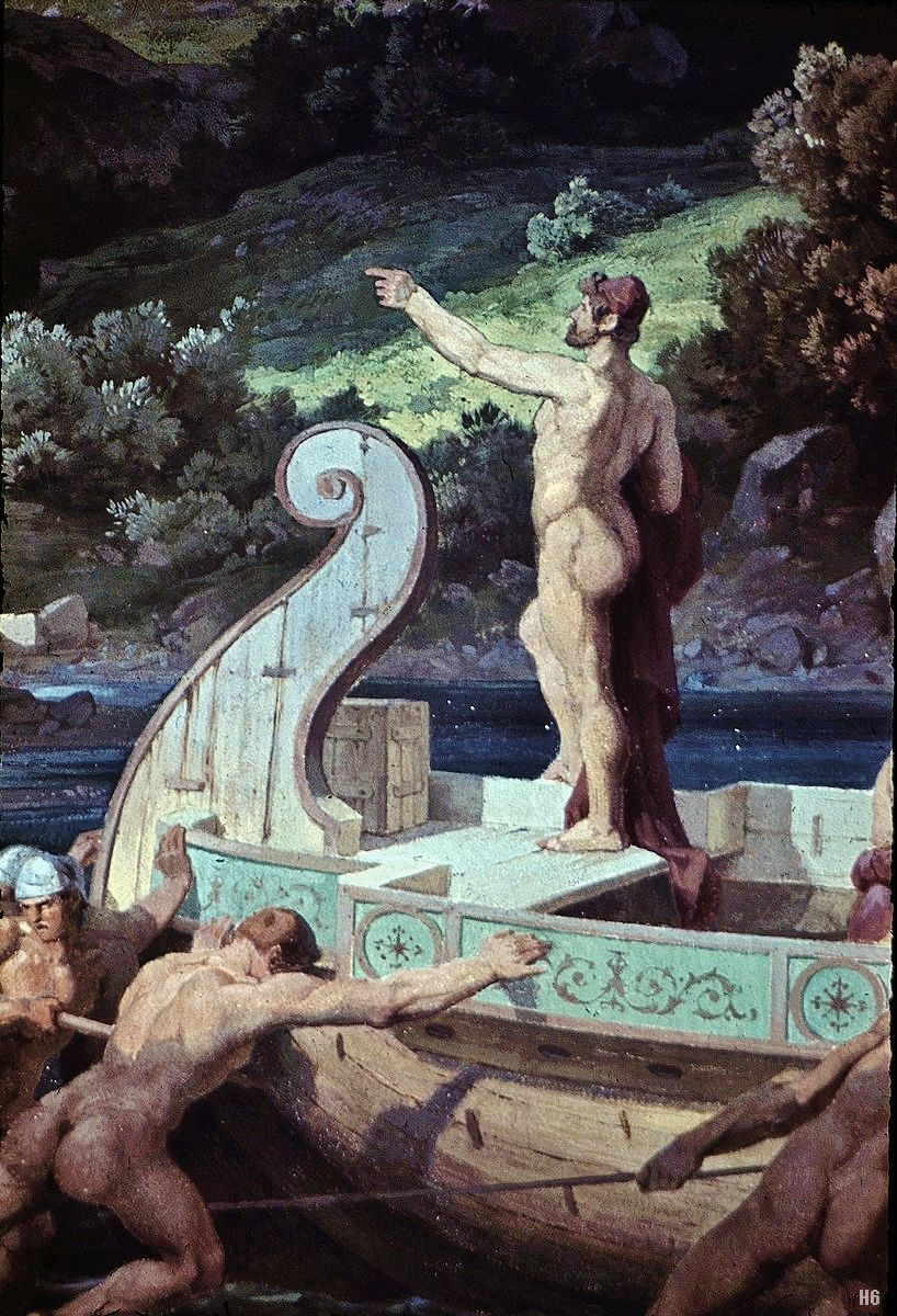 The Odyssey - Departure from the land of the Cyclops. 1859-83. Friedrich Preller