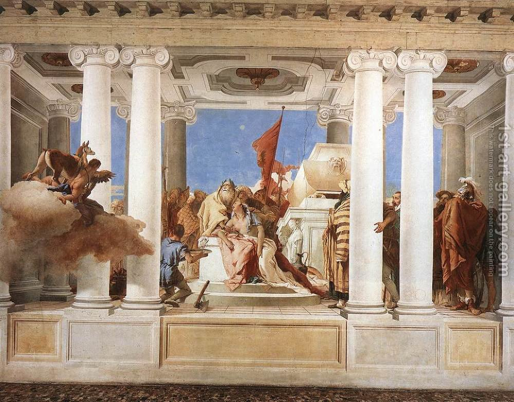 The Sacrifice of Iphigenia 1757 by Giovanni Battista Tiepolo