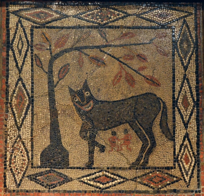 Mosaic_depicting_the_She-wolf_with_Romulus_and_Remus_from_Aldborough_about_300-400_AD_Leeds_City_Museum_16025914306.jpg