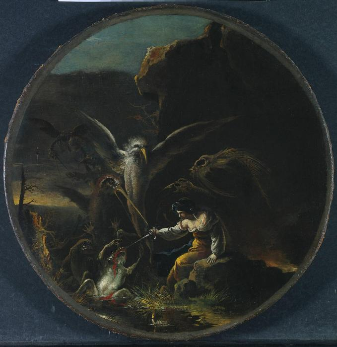 Salvator-Rosa-Scene-with-Witches -Morning-1645-1649-painting-artwork-print