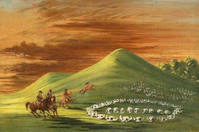 butte-de-mort-sioux-burial-ground-upper-missouri_george-catlinamerican