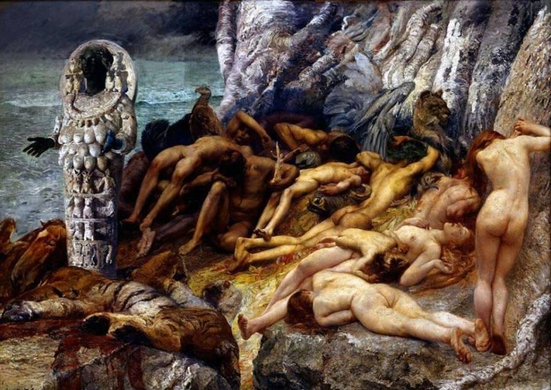 Giulio Aristide Sartorio, Diana of Ephesus and the slaves, 1893–1898