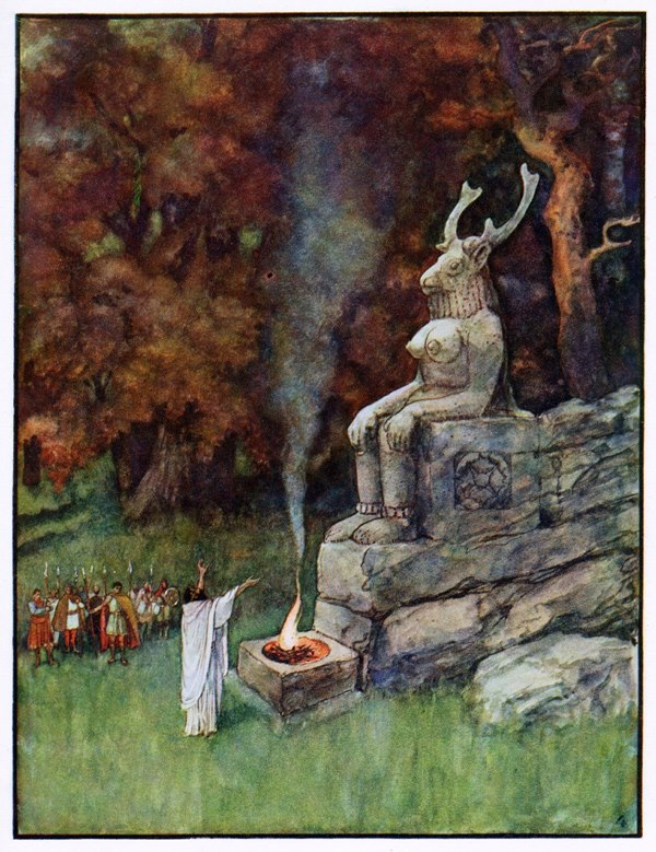 Illustrazione di Artuš Scheiner per František Ruth, Ancient Fairy-Tales (1920)