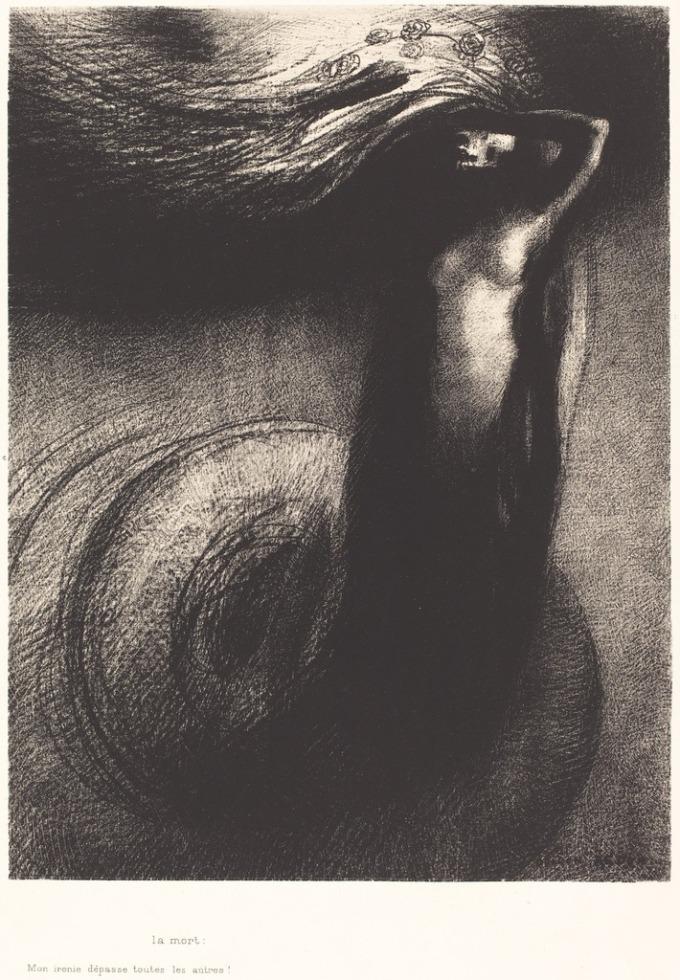 Odilon Redon Death- My iron surpasses all others 1889