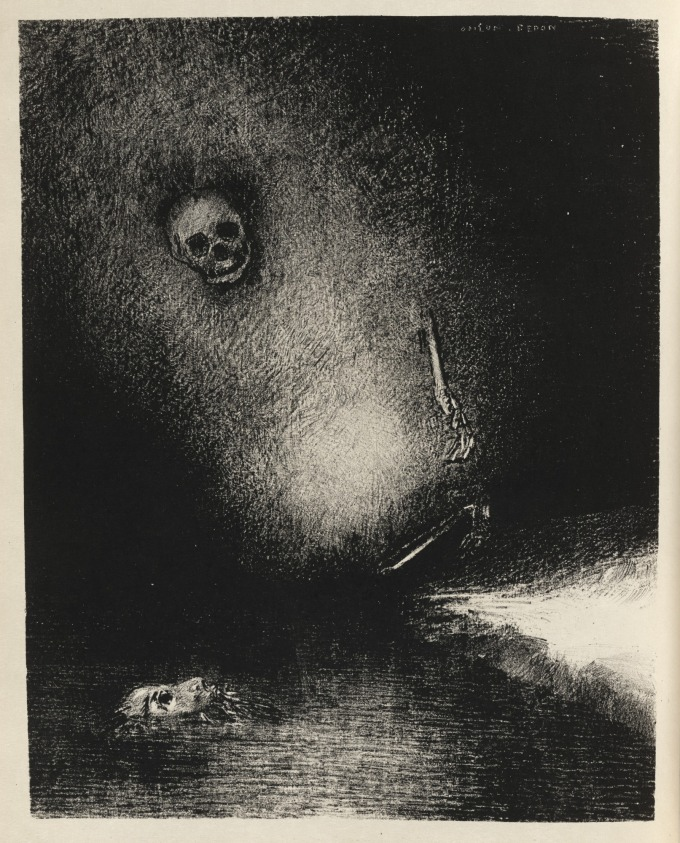Odilon Redon. The Sinister Command of the Specter Is Fulfilled. The Dream Is Realized by Death 1887