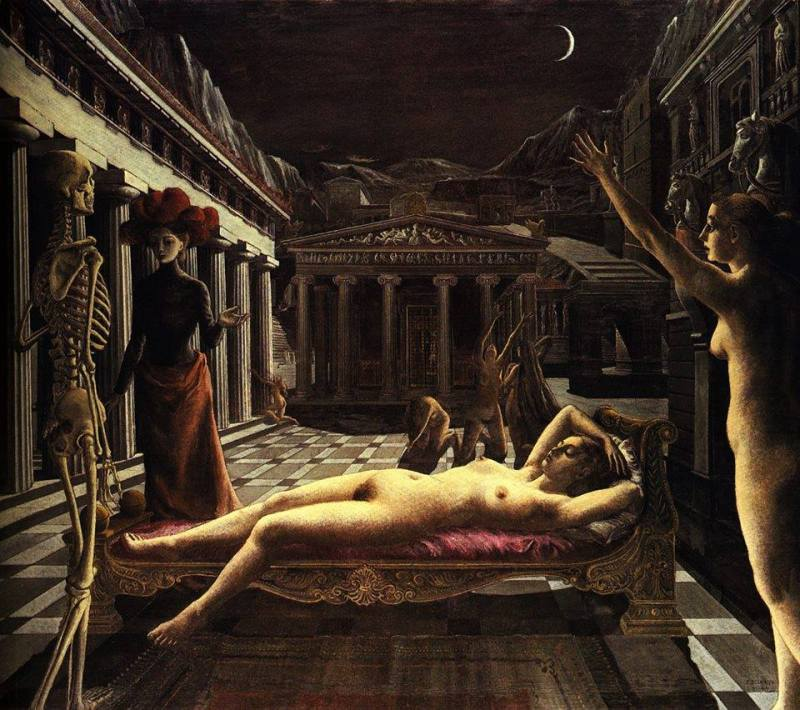 Paul Delvaux, Sleeping Venus, 1944