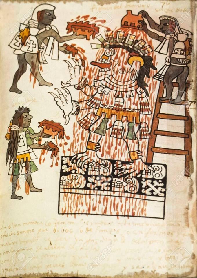 Sheet of Facsimile book of Actec Codex Tudela