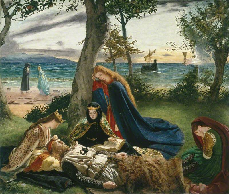 Archer, James, 1823-1904; La mort d'Arthur
