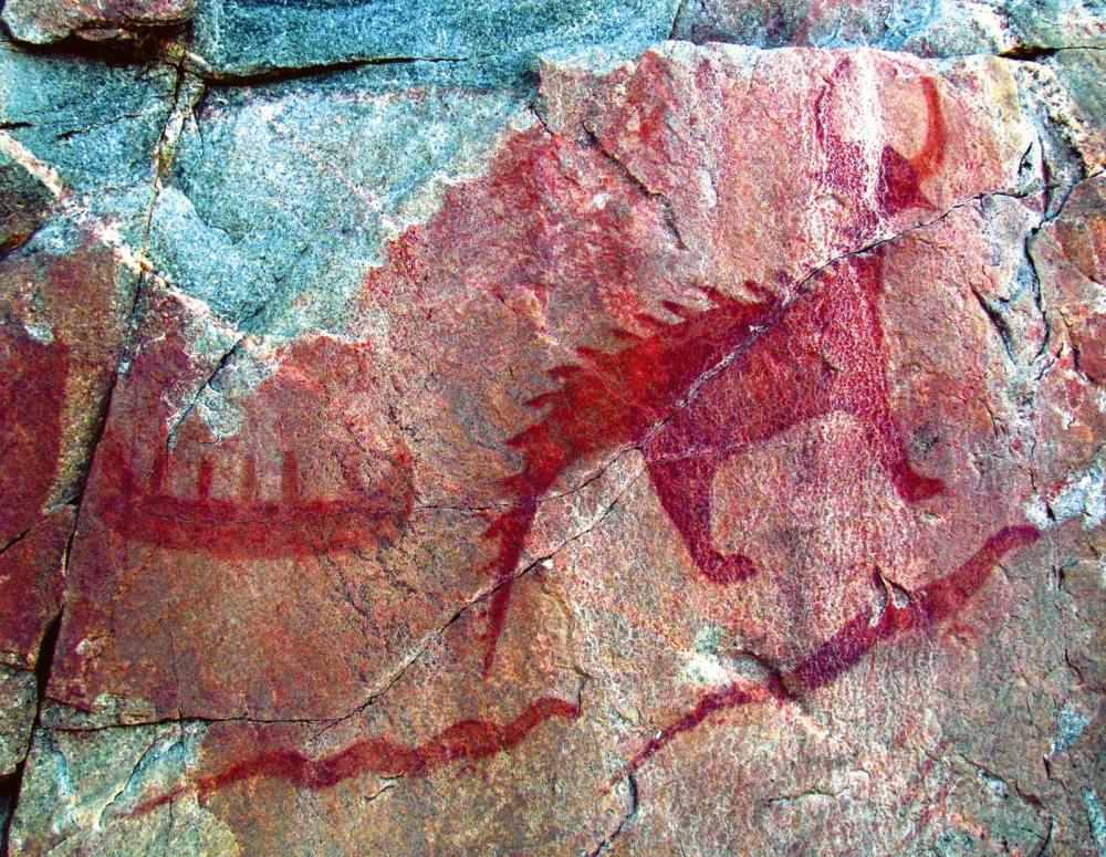 pictographs-Agawa-Lake-Superior-Provincial-Park-Canada