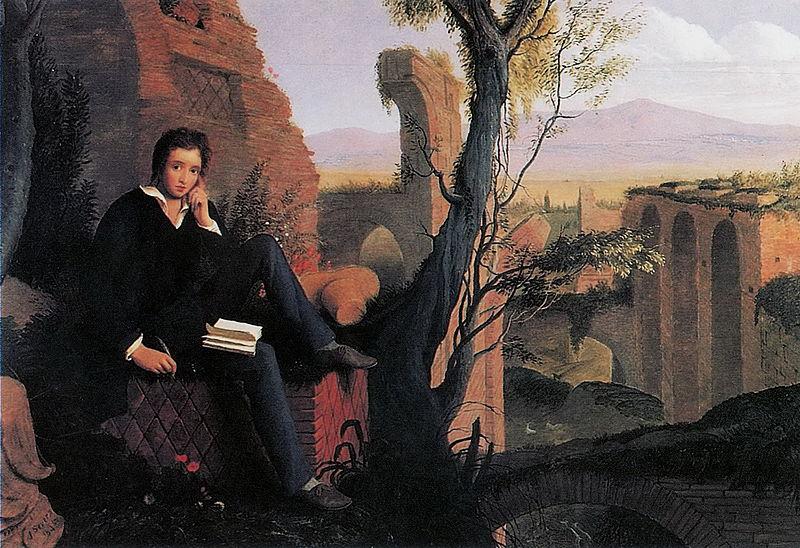Joseph Severn, Shelley scrive il Prometeo Liberato presso le terme di Caracalla